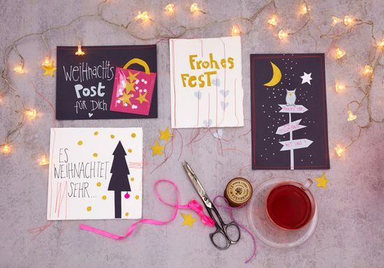 Handmade - Do it yourself: Weihnachtskarten