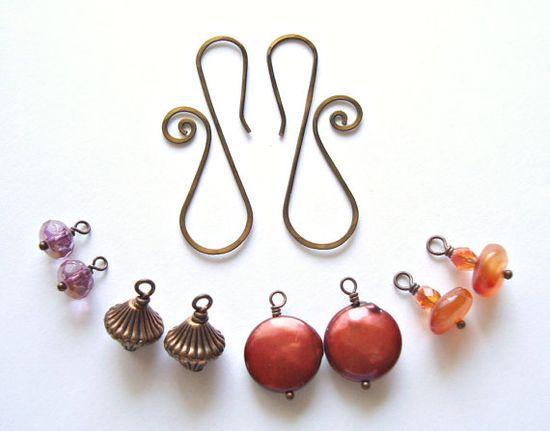 Autumn earring wardrobe  #handmade #jewelry #beading #wire_working