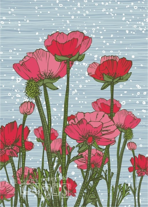 Flowers Painting by cubes1
