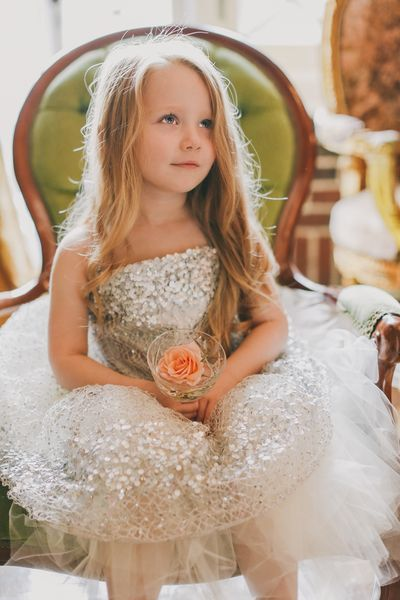 Silver Constellation Flower Girl Dress (with your choice of sash color) on Etsy, $400.00