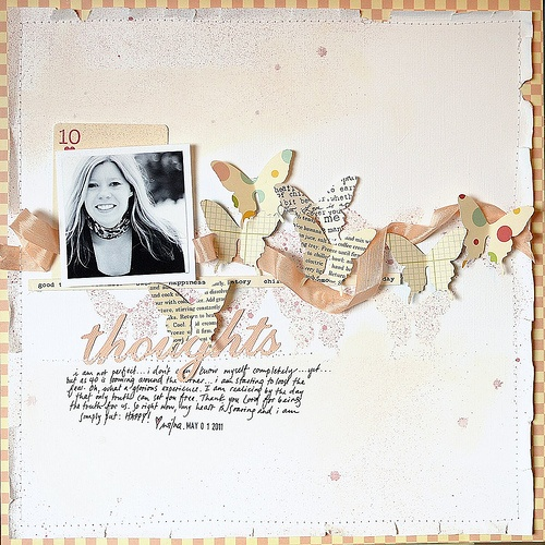 love this scrapbook page