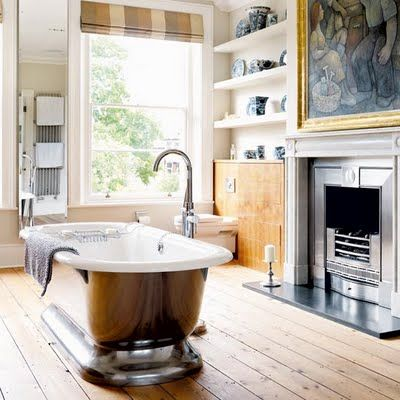 #Fireplace in the #bathroom