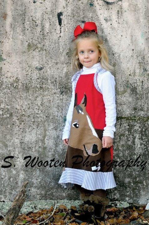 Girls 2T- 12 years Celebration Creation DIY pet dress year of snake horse woodland magical eco kids animal lover. $65.00, via Etsy.