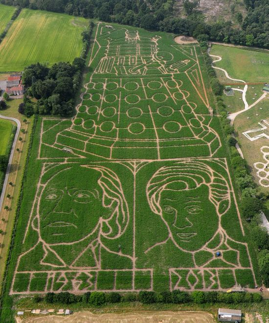 Giant Doctor Who corn maze in England