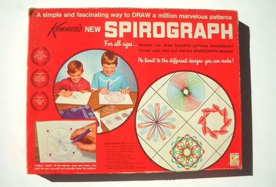 Spirograph: Vintage 1960s Toy Complete Set via Etsy