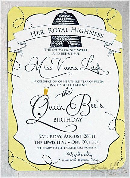 queen bee birthday