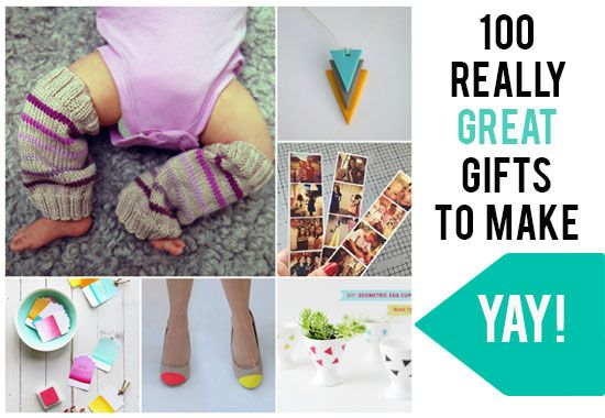 Creative: 100 Really Great Gifts To Make #handmade #craft #diy
