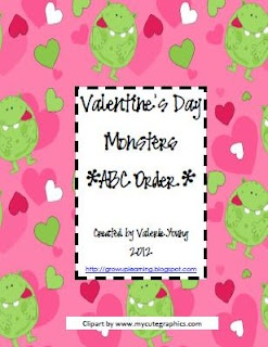 valentines day monsters - abc order -