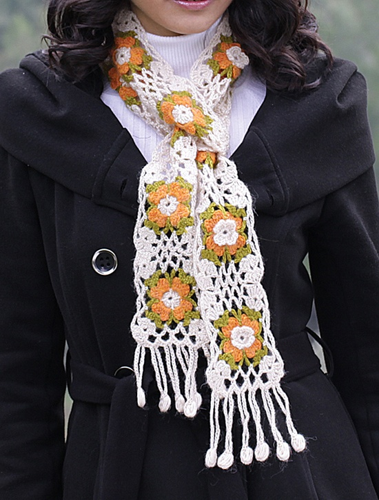 Women Crochet Scarf Accessories