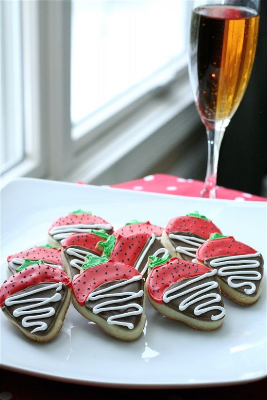 Chocolate Covered Strawberry Sugar Cookies...YES, how cute are these?!