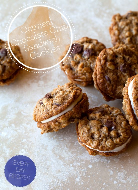 oatmeal chocolate chip sandwich cookies
