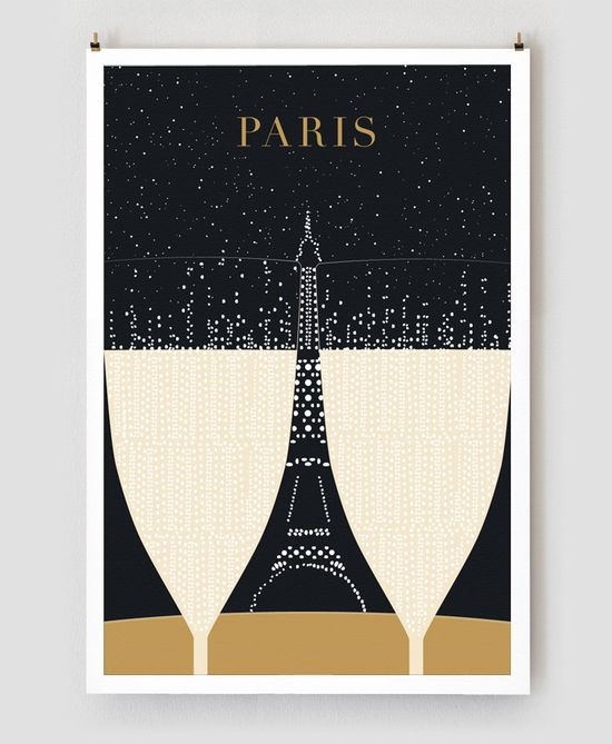 The new Paris Travel posters by graphic designer Evan Robertson and his wife - #Paris #travel #poster #graphics #design