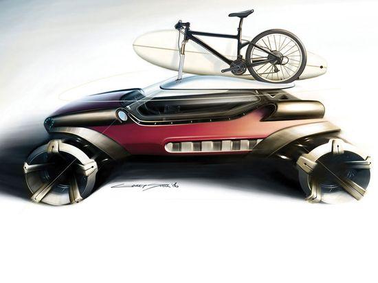 A rider concept car