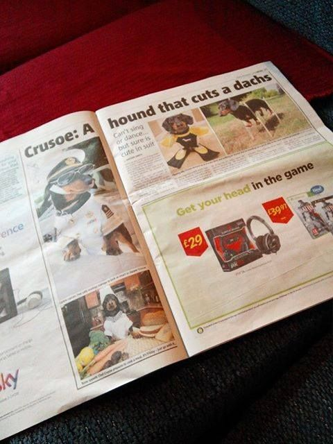 Crusoe makes the paper!