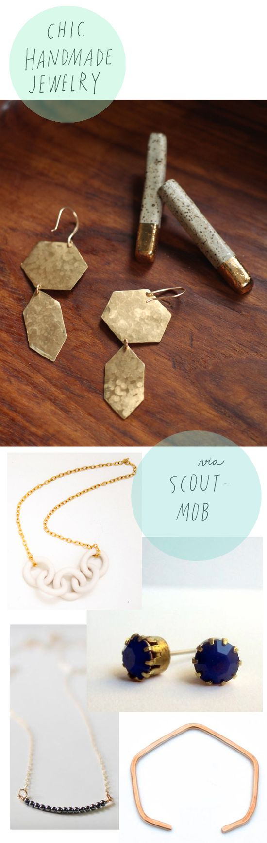 Chic handmade jewelry on Scoutmob