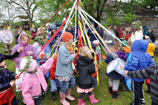 A Maypolefor MayDay and other ways to celebrate it ! As a child we would bring handmade paper baskets to friends front doors, ring the bell and run so we wouldn't be