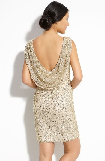 loooove this sequined dress back.