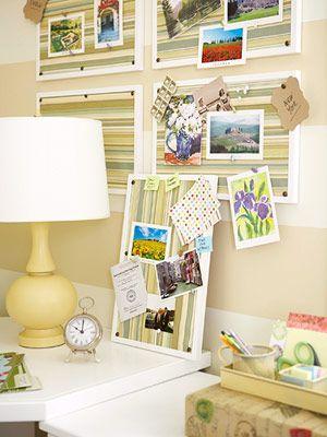 framed idea boards...foam core...paper...framed