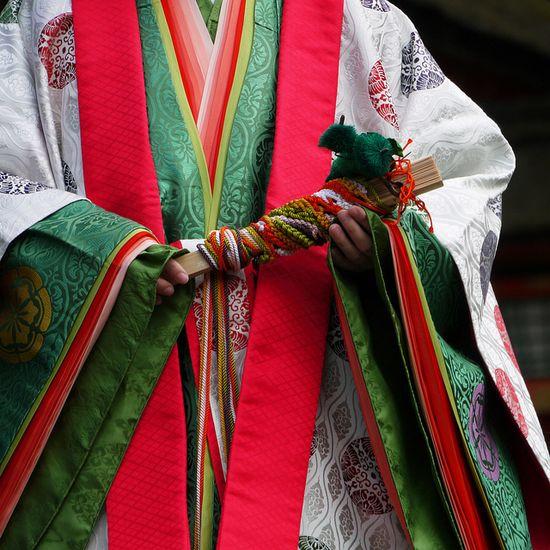 twelve-layered ceremonial kimono