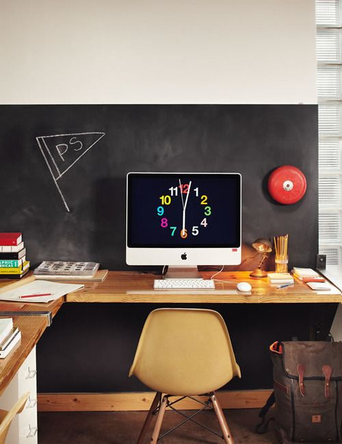 Awesome chalkboard office space