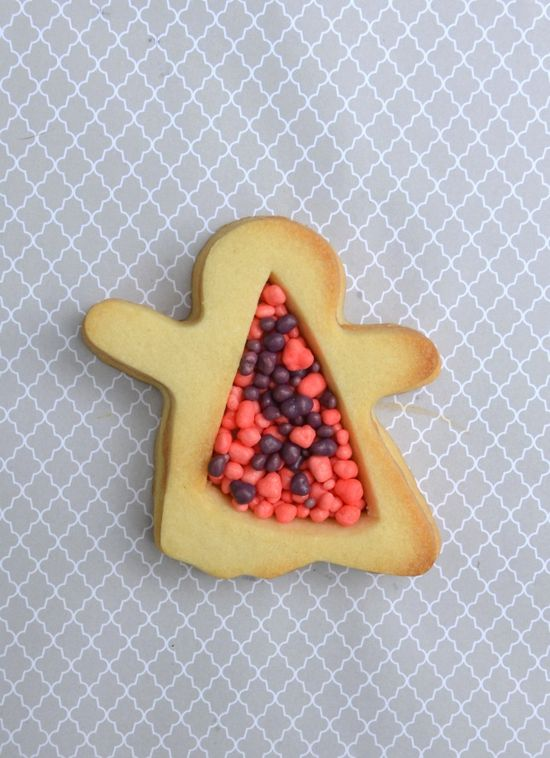 Fill Sugar Cookies with Halloween Candy