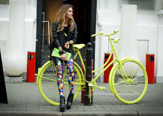 żółty rower holenderski