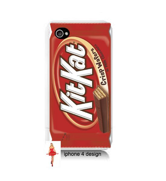 Kit Kat Candy iphone 4  cell phone case, Iphone case, Iphone 4s case, Iphone 4 cover, i phone case, i phone 4s case. $15.99, via Etsy.