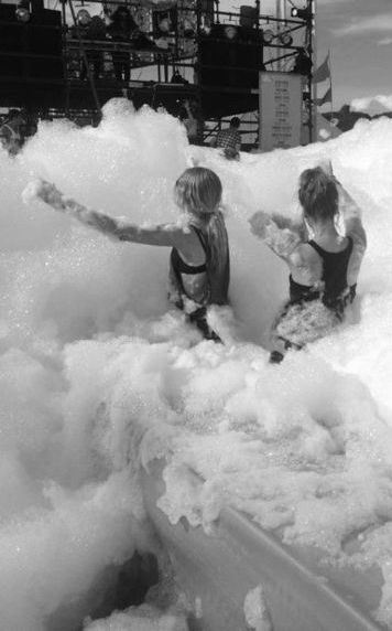 ? Foam party ~ Bachelorette Bucket List. #bachelorette #party #idea