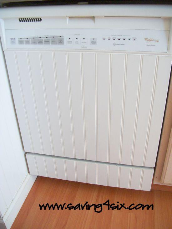 DIY Dishwasher Facelift! #kitchen #diy