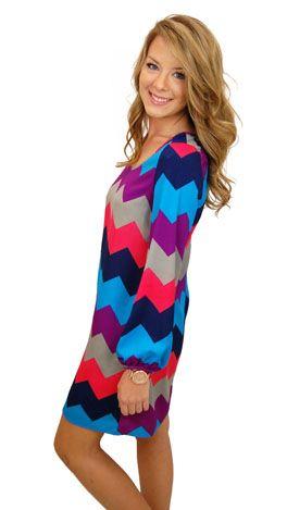Chevron dress! Cute!