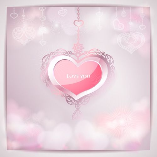 Romantic Wedding Backgrounds vector 04