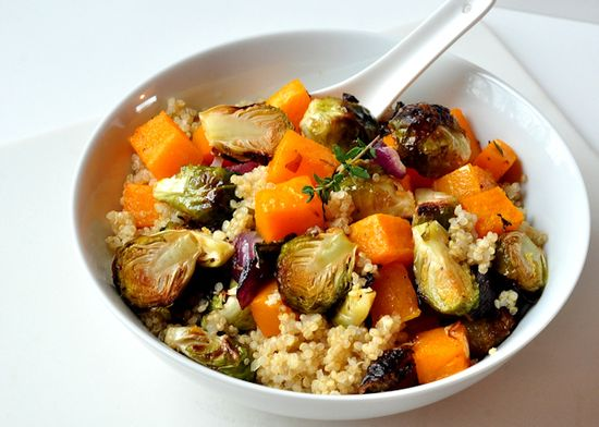 Warm Quinoa and Roasted Vegetable Salad by thecreeksidecook #Salad #Quinoa #Vegetable #Healthy