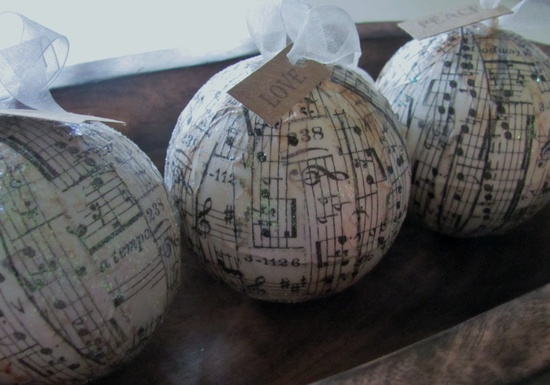 Handmade music ornaments