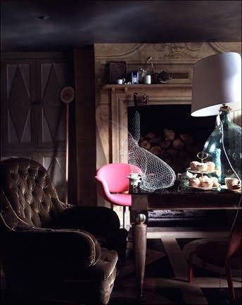 dark, moody ,cozy ,home, interiors