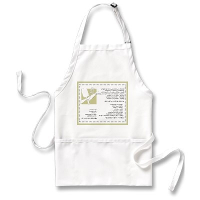 Cooks Guide Upside Down Information Apron