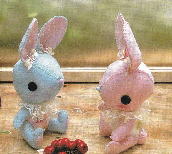 Kawaii Pretty Bunny miniature animal Mascots Stuffed Plush Toy Doll E PATTERN Handmade Sewing Crafts pdf in Chinese & English. $3.00, via Etsy.