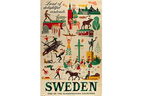 Sweden Travel Poster on OneKingsLane.com