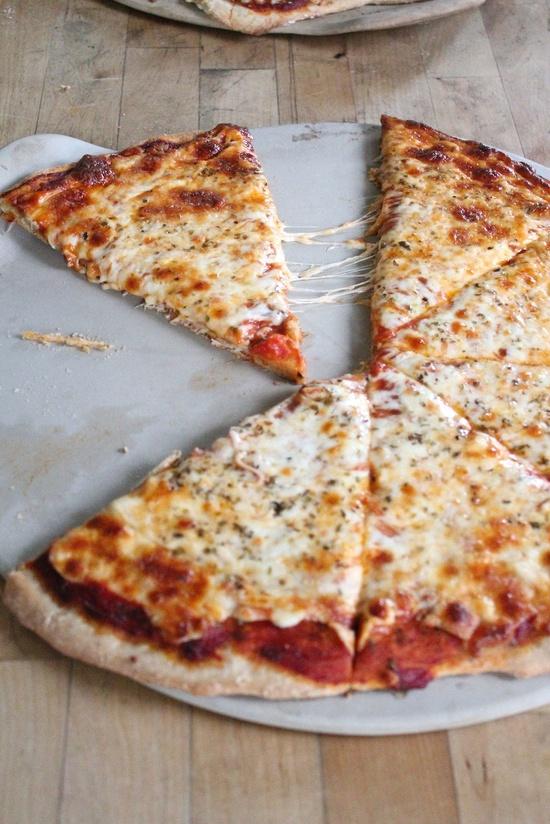 Whole grain plain pizza.