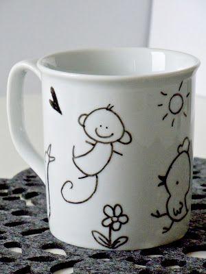 Mijbil Creatures: Handmade gift ideas: the DIY custom mug