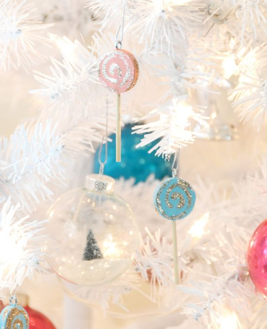 DIY lollipop ornaments