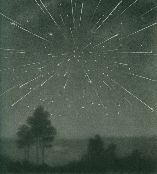 The radiant meteor storm of 9 October 1933, Larousse Encyclopedia of Astronomy