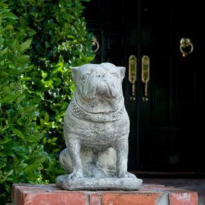 Christine Gotfredson Interiors - everyone one needs a garden bulldog!