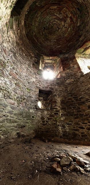 Rait Castle interior, Scotland