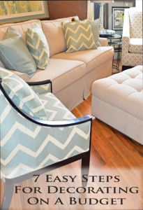 7 Easy steps for decorating on a budget