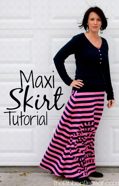 Maxi Skirt Tutorial - The Ribbon Retreat Blog