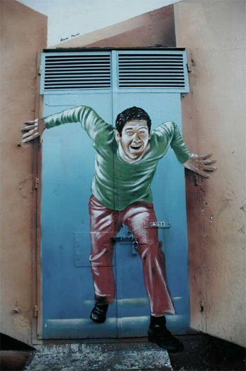 3D street art by Rami Memri. Tel Aviv, Israël
