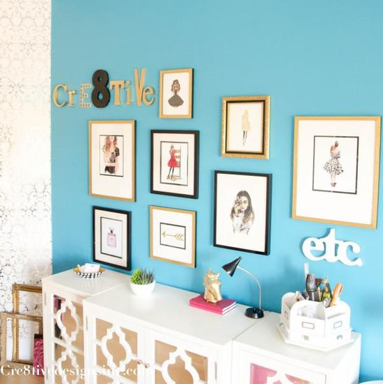 DIY Home :: DIY Fashion illustration gallery wall