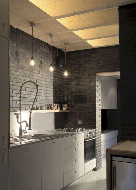 industrial styled kitchen