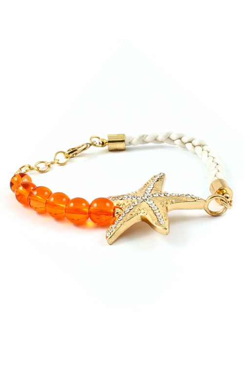 Coral Dotted Starfish Bracelet