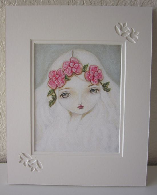 RESERVED for Jana B.Matted Fine Art PrintFlora by FairRosamund